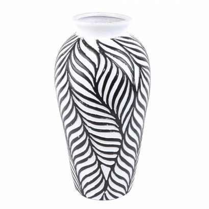 Vase JOY black and white H30
