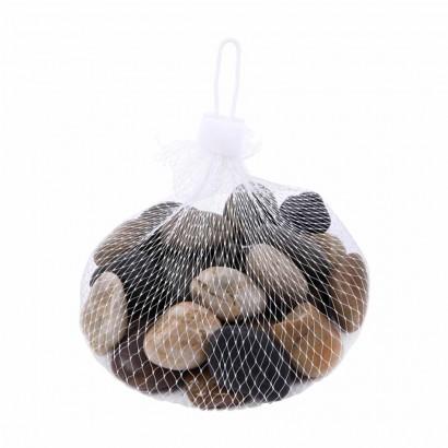 Galet decoratif en mini sac