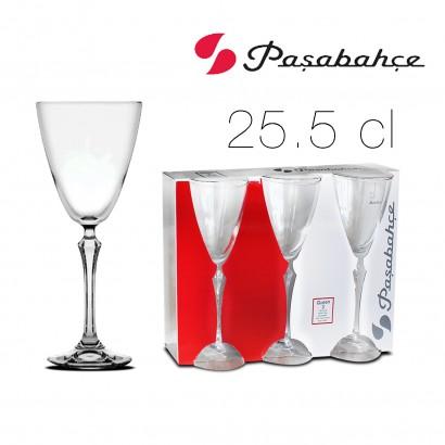 Queen stemmed glass 25.5 cl x3