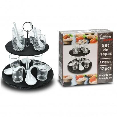 Aperitif set 2 trays 17 pcs
