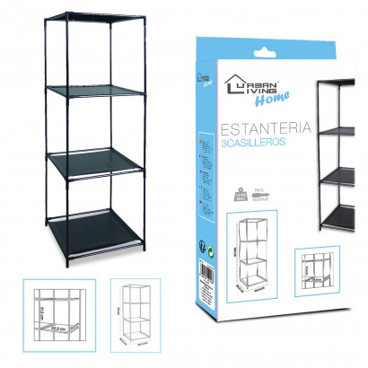Shelf 3 lockers black H104CM