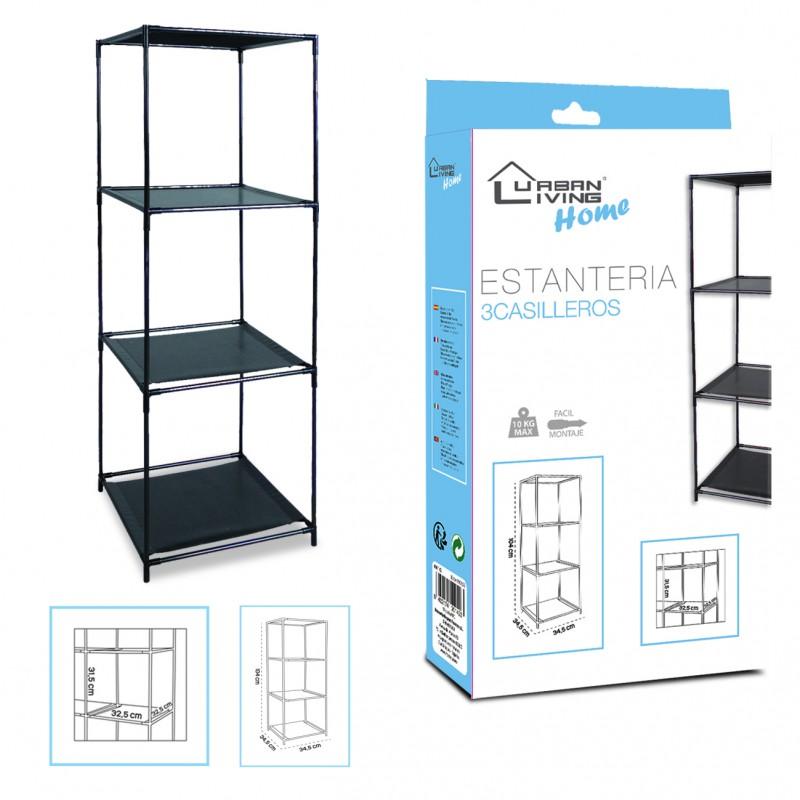 Shelf 3 lockers black H104CM