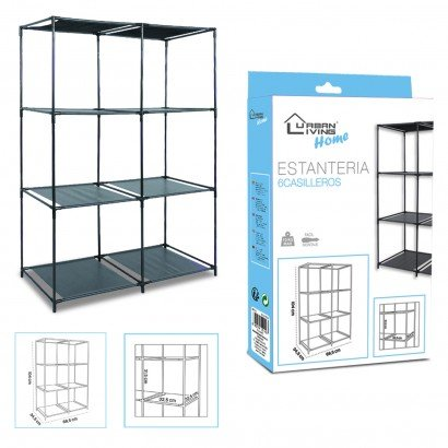 Shelf 6 lockers black H104CM