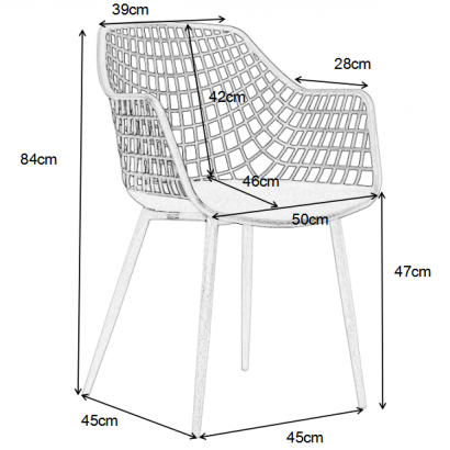 Chair with armrest design...