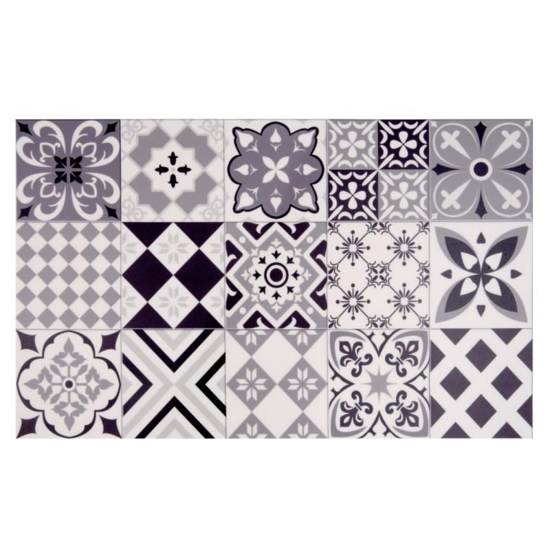 Tapis en vinyle motifs carreaux de ciment 50X80CM