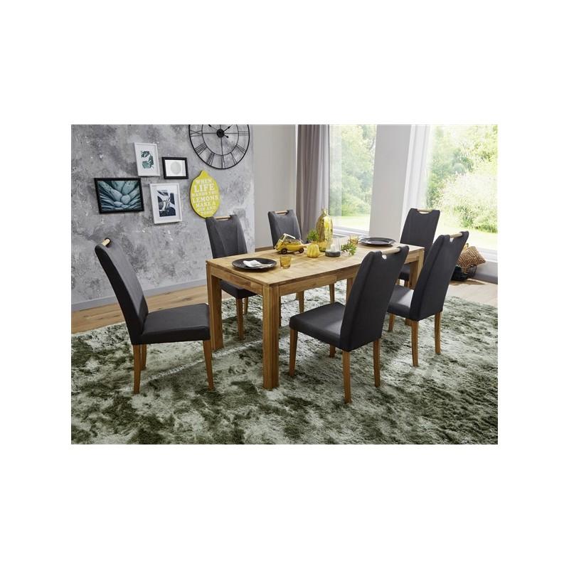 Table de salle à manger Naturel  Bois chêne massif 200CM