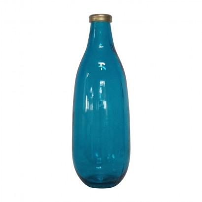 Vase 40 CM bleu Embout...