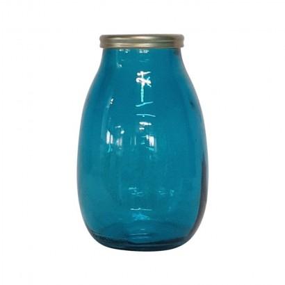 Vase 28 CM bleu Embout...