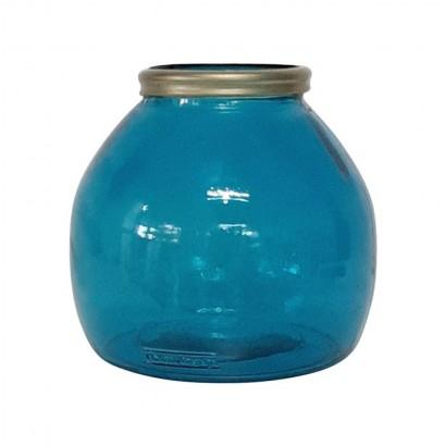 Vase XIOMARA bleu H20