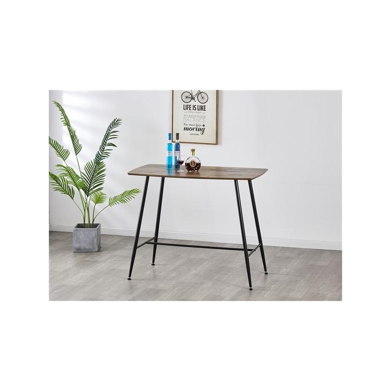 Table haute 4 pers Mange debout rectangulaire en bois