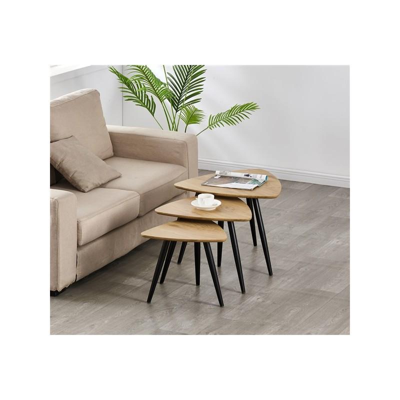 Gigogne coffee table x3 Legs Black