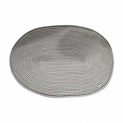 Oval place mat 30x45 cm - Grey
