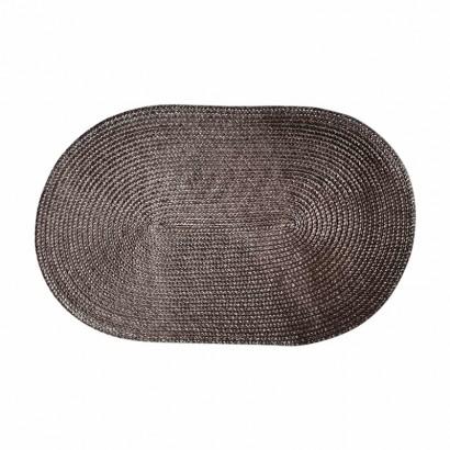 Oval place mat 30x45 cm - Brun