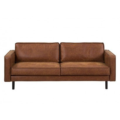 Sofa 3 seats in camel leather