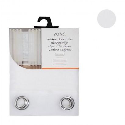 Voilage uni 240x135 cm - Blanc