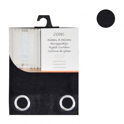 Voilage uni 240x135 cm - Noir
