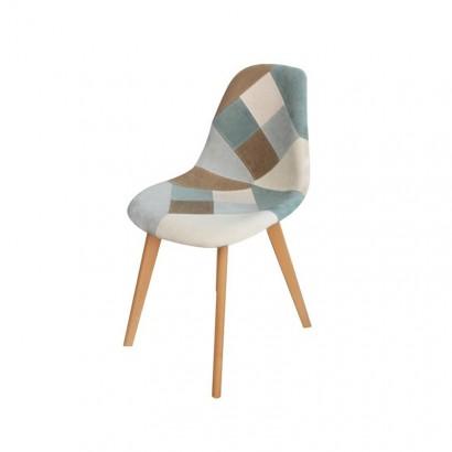 ORAZ patchwork chair - Blue