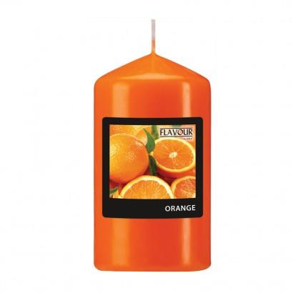Scented pillar candle - Orange
