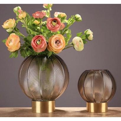Vase ELOUANE ambre H17