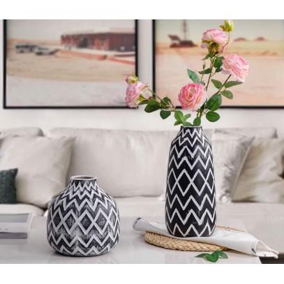 Vase WESTON noir et blanc H31