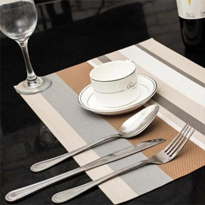 Set de table à rayures...