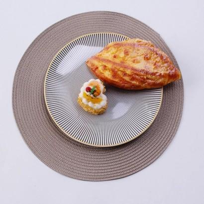 Set de table rond - Taupe