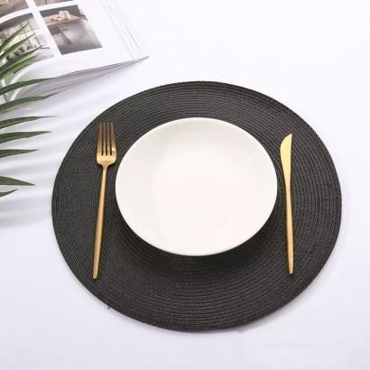 Set de table rond - Black