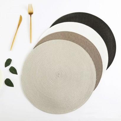 Set de table rond - Grey