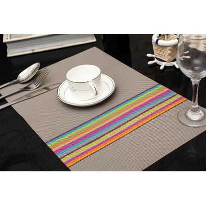 Placemat with stripes...