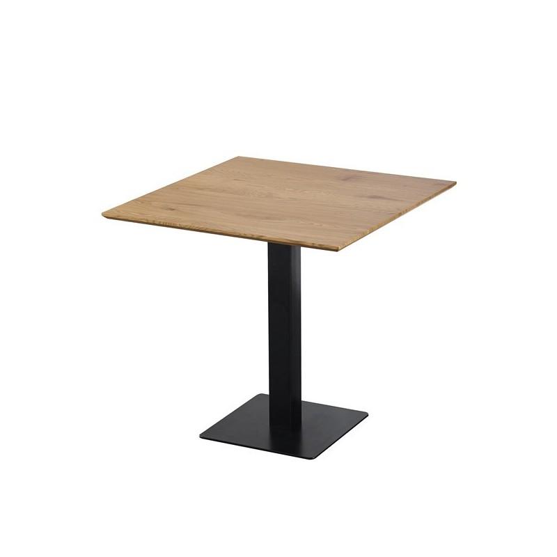 Vierkante Tafel Met Centrale Poot Josua Voor Keuken Of Eetkamer 80x80xh76 Cm