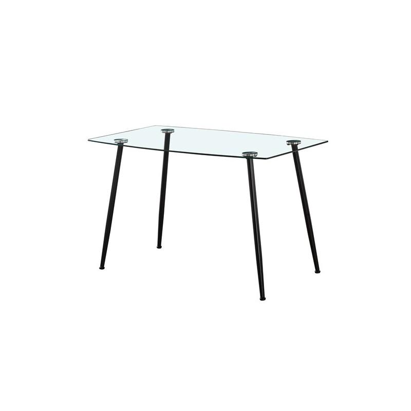 Keukentafel 4 personen Rechthoekige glazen tafel 120cm