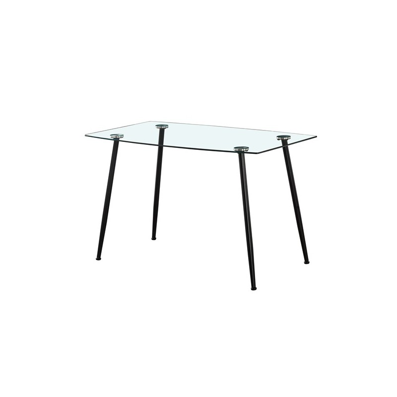 Kitchen table 4 persons Rectangular glass table 120cm
