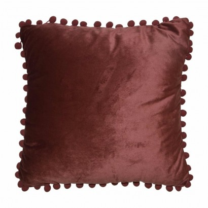 Velvet Cushion pompoms...