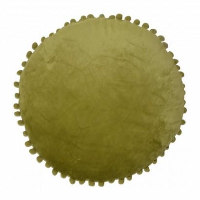 Velvet Cushion pom-poms D40 cm