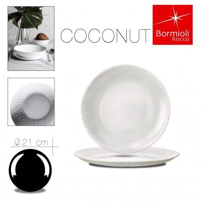 Assiette dessert coconut 21 cm