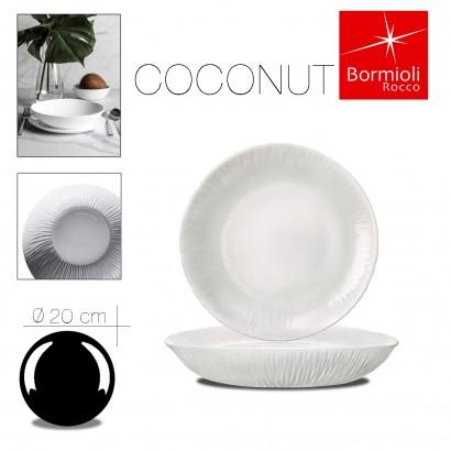 Assiette creuse coconut 20 cm