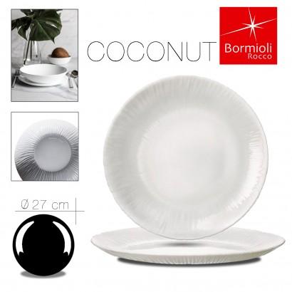 Assiette plate coconut 27 cm