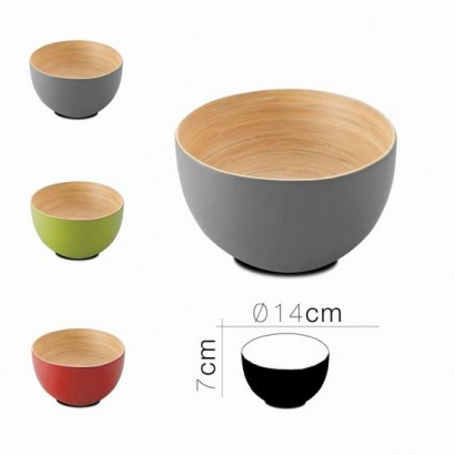 Bamboo koa bowl D23 x H9.5...