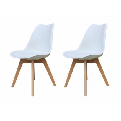 Lot van 2 LIYAH stoelen met...
