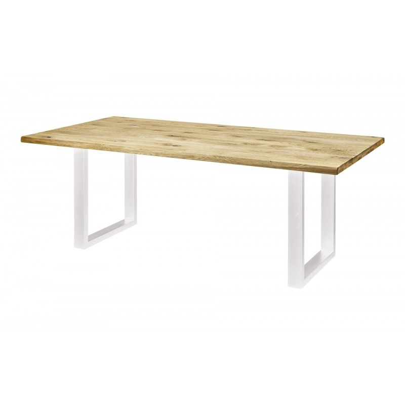 Dining Table 8 Persons Natural Solid Oak Wood 200cm
