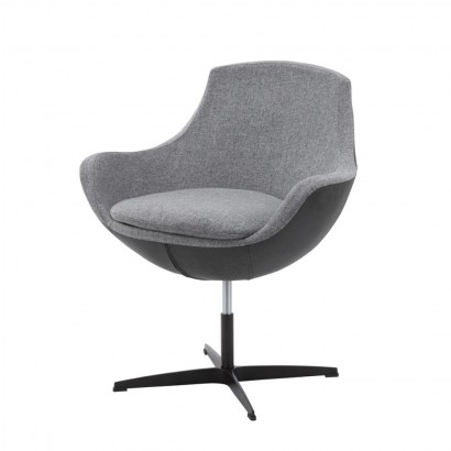 IVAN swivel chair in PU and...