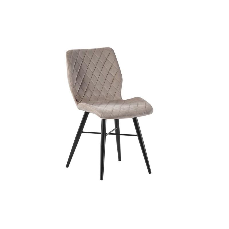 Chaise de salle à manger capitonnée en velours