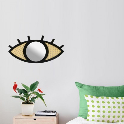 Miroir Design oeil noir