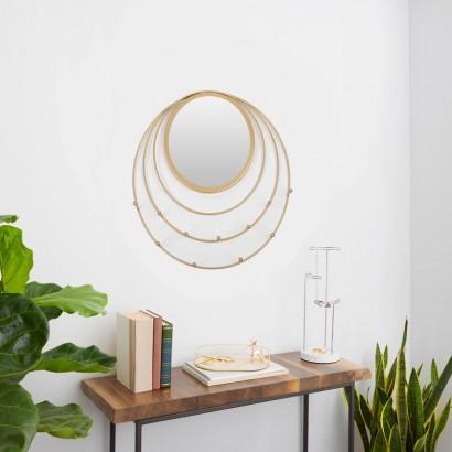 Golden Metal Mirror