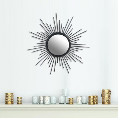 Mirror metal sun design BLACK