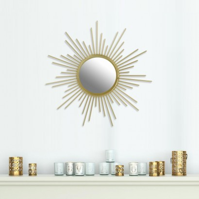 Mirror metal sun design GOLD