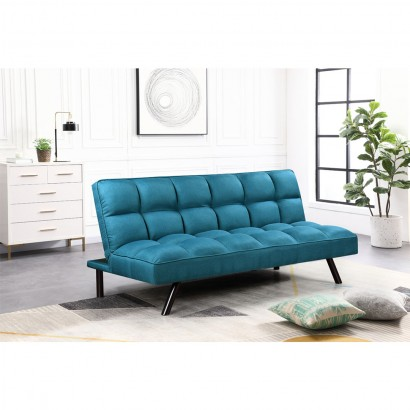 Fabric sofa bed - Blue