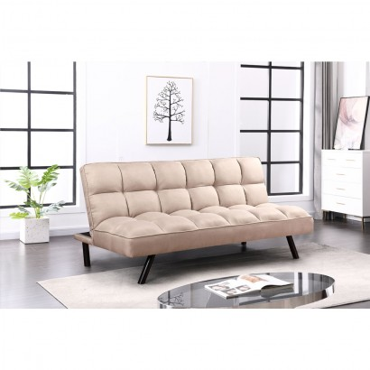 Fabric sofa bed - Brun