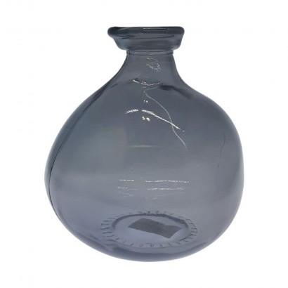 VAATA glass vase 18 cm - Grey