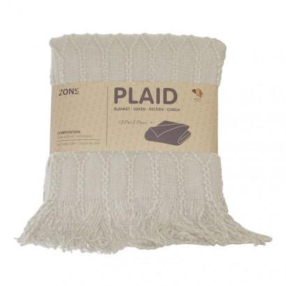Plaid tricot 130x150 cm -...